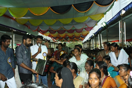 Director Sasikumar in Social work for students
